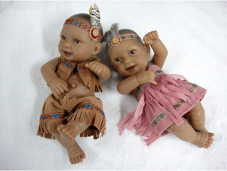 QXMEI 11 Zoll 28 cm Volle Krper Silikon Schwarz Stil Indien Realitt Reproduzieren Puppe Aussehen Realistische Spielzeug Geschenk