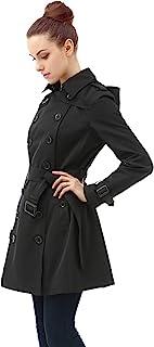 BGSD Women's Leah Hooded Mid Length Trench Coat