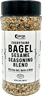 Everything Bagel Seasoning Blend Original XL 10 Ounce Jar. Delicious Blend of Sea Salt and Spices Dried Minced Garlic & On...