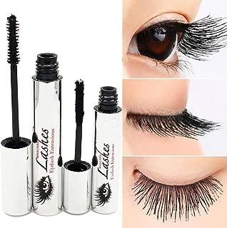 Tiikii 4D Silk Fiber Lash Mascara for Eyelash Extension, Crazy-long Black Grow Lash Cream Kit Warm Water Washable Curling Eyelash