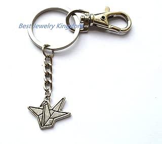 Origami Crane Keychain Paper Crane Keyring,Good Wish keychain,Paper Crane Keychain Paper Bird Keychain