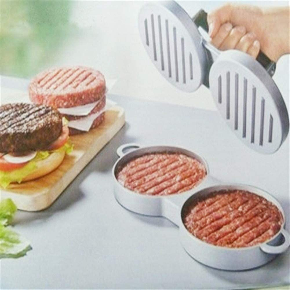 Doppel Burger Press, Antihaft-Aluminium-Burger Utensil, Hamburger Mold, Hamburger Presse, Küche Bar Kochgeschirr Mit 2 Löchern (Color : BBQ Utensils) Bbq Utensils