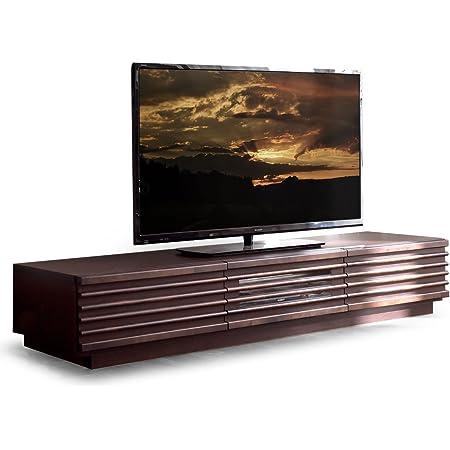 タンスのゲン テレビ台 幅150cm テレビボード アルダー無垢 天然木 マルチ収納 完成品 ブラウン 38700008 02AM (73178)