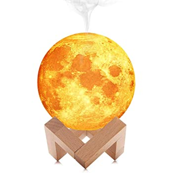 Sunsbell 3D LED Moon Night Light, Air Humidifier with