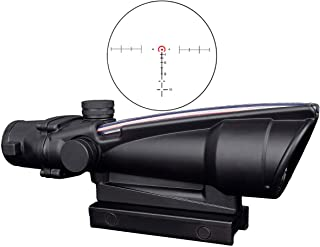 CTOPTIC Scope Rifle Scope 5X35 Red Horseshoe Reticle Scope Optic Sight Dual Illuminated Real Red Fiber with Mount Black