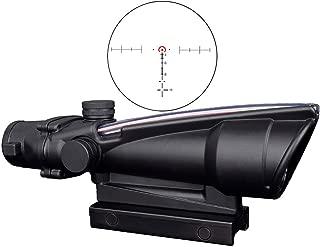 CTOPTIC Scope Rifle Scope 5X35 Red Horseshoe Reticle Scope Optic Sight Dual Illuminated Real Red Fiber with Mount Black