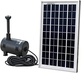 ECO-WORTHY Solar Fountain Pump Kit : Submersible Water Pump and 10 Watt Solar Panel 16.5ft Power Cord for Sun Powered Fountain, Waterfall, Pond Aeration, Hydroponics, Aquarium, Aquaculture