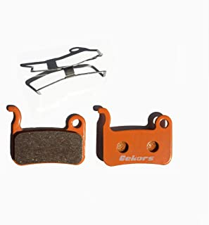 Gekors Bicycle Disc Brake Pads for Shimano XTR/Deore/XT/SLX/Hone/Alfine,1 Pair with a Spring