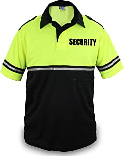Best Two Tone Security Bike Patrol Shirt with Reflective Stripes and Zipper Pocket Review