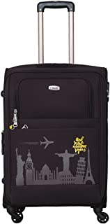 93d93ec4d Timus Salsa 65Cms Polyester Black 4 Wheel Trolley Suitcase(Check-in luggage)