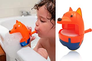 2019 Newest Bath Bubble Machine For Kids, Cute Fox Bath Tub Bubble Maker Blower - Never Break Over 3 Meters, 2000 Bubbles Per Minute Baby Fun Shower Toys , for Toddler Boys & Girls Age of 4,5,6,7,8-16