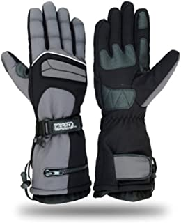 Hugger Glove Company Men's Textile Gauntlet Winter Warm Snowmobile Gloves