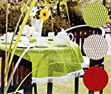 heimtexland friedola Outdoor Tischdecke rechteckig 130x160 cm WETTERFEST & rutschfest Gartentischdecke in rot mit Fransen Camping Garten Tischdekoration Typ444