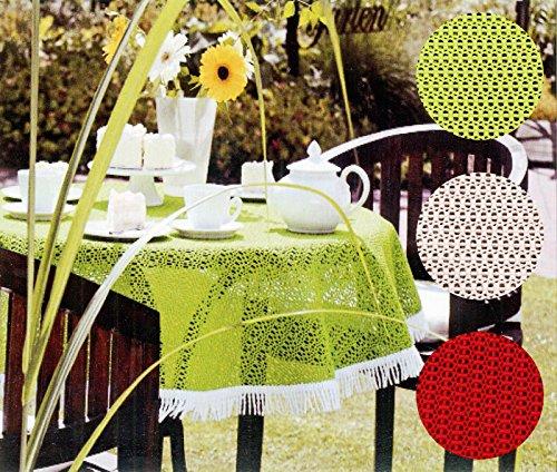 Heimtexland Friedola Outdoor tafelkleed Weerbestendig & antislip tuintafelkleed camping tuin deken 6 kleuren rond & rechthoekig type 444 oosters rund 160 cm lemon