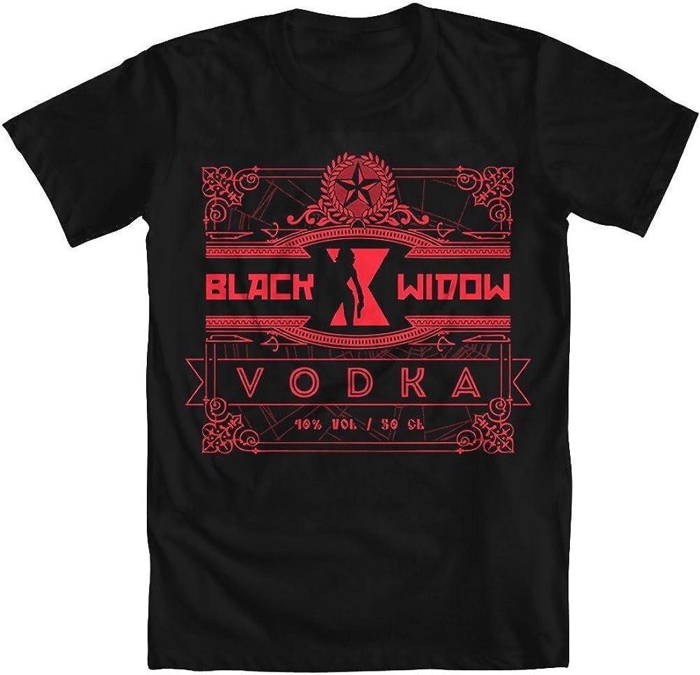 GEEK TEEZ Black Widow Vodka Girls' T-Shirt