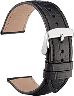 18mm 19mm 20mm 21mm 22mm Alligator Embossed Leather Watch Band, Replacement Strap for Men or Women