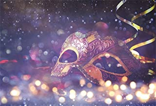 YEELE Masquerade Backdrop 7x5ft Venetian Mardi Gras Mask Photography Background Girls Lady Room Interior Artistic Portrait Carnival New Year Events Photo Booth Photoshoot Props Wallpaper