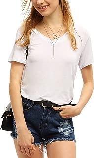 Women's V Neck Short Sleeve Casual T-Shirt