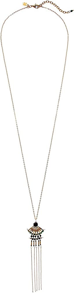 Lucky Brand - Gold and Beaded Fringe Necklace
