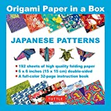 Origami Paper in a Box - Japanese Patterns: 192 Sheets of Tuttle Origami Paper: 6x6 Inch High-Quality Origami...
