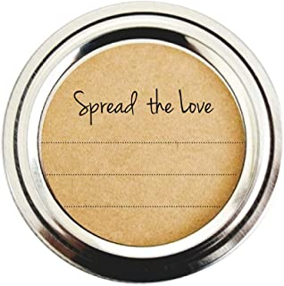Spread the Love Mason Jar Labels, Stickers for Jam, Jelly, Marmalade and Preserves by Once Upon Supplies, 2.5 Inches Size ...