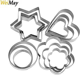 Cortadores de repostería de metal con formas de corazónhttps://amzn.to/312BMcU