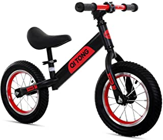 Kids Balance Bike Toddler Bike Footrest Lightweight Adjustable Seat Handlebar Height 12 Inch Toddler Training Bike for Chi...