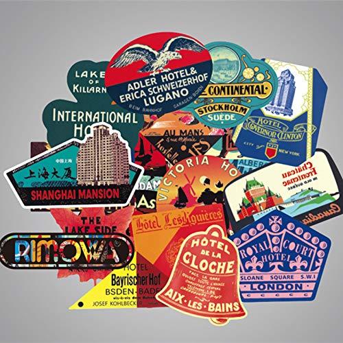 Paquete De 56 De Global Travel Vintage International Hotel Personality Tide Marca Amazon Aliexpress...