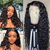 ARIETIS 10 Inch Water Wave 360 Lace Front Wigs Human Hair Pre Plucked Natural Hairline with Baby Hair for Black Women Unprocessed Brazilian Virgin Hair Swiss Medium brown Lace