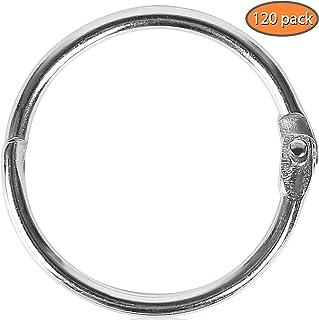 120Pack 1 Inch Binder Rings, Loose Leaf Binder Rings Office Book Rings, Nickel Plated Steel Binder Rings, Key Chain Key Rings, Metal Book Rings for School, Home or Office
