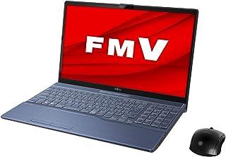 富士通 FMV LIFEBOOK AH77/E2 メタリックブルー - 15.6型ノートパソコン[Core i7 / メモリ 8GB / SSD 1TB / BDドライブ]Microsoft Office Home & Business 201...