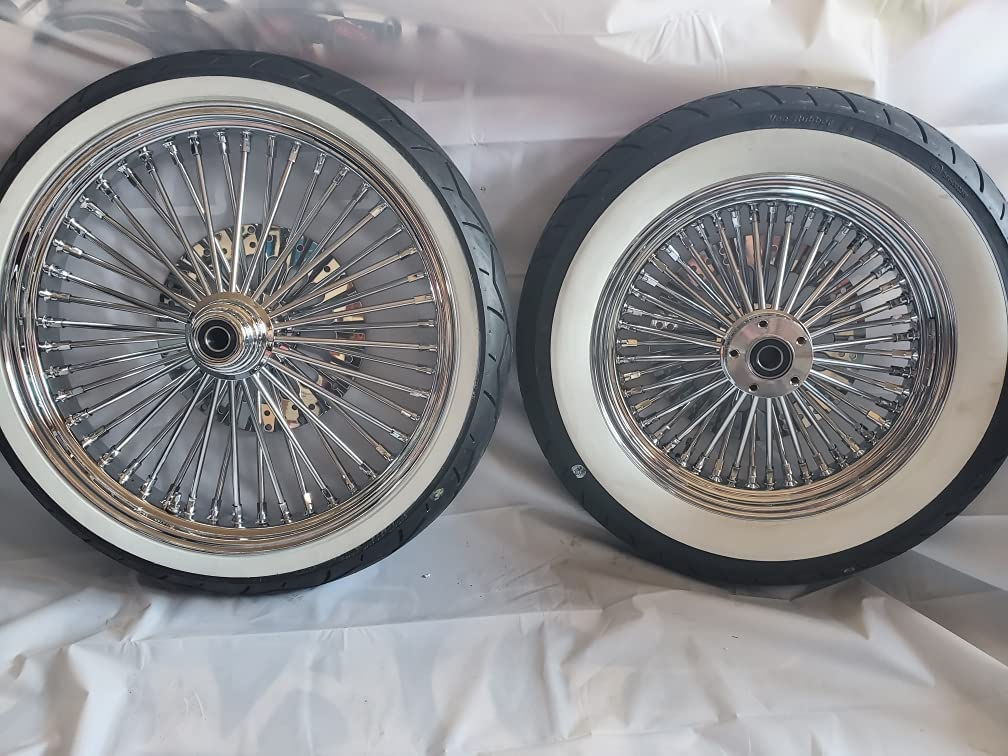 Harley Wheel Set 21 16 48 Fat 2 Rotor Fixed price for sale Max 73% OFF Single Chrome Disk Spoke
