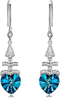 NINASUN Women Christmas Earrings Gifts Ode To Christmas Sterling Silver Earrings Women Fine Jewelry with Crystals From Swarovski for Her Hypoallergenic Material with Gift Box