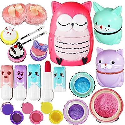 Joyin Toy All-in-one Girls Makeup Kit Including 4 Lip Balms, 3 Lip Gloss, 2 Shimmer Powders/Eyeshadow, and 1 Large Blush. from Joyin Inc