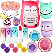 Joyin Toy All-in-one Girls Makeup Kit Including 4 Lip Balms, 3 Lip Gloss, 2 Shimmer Powders/Eyeshadow, and 1 Large Blush.