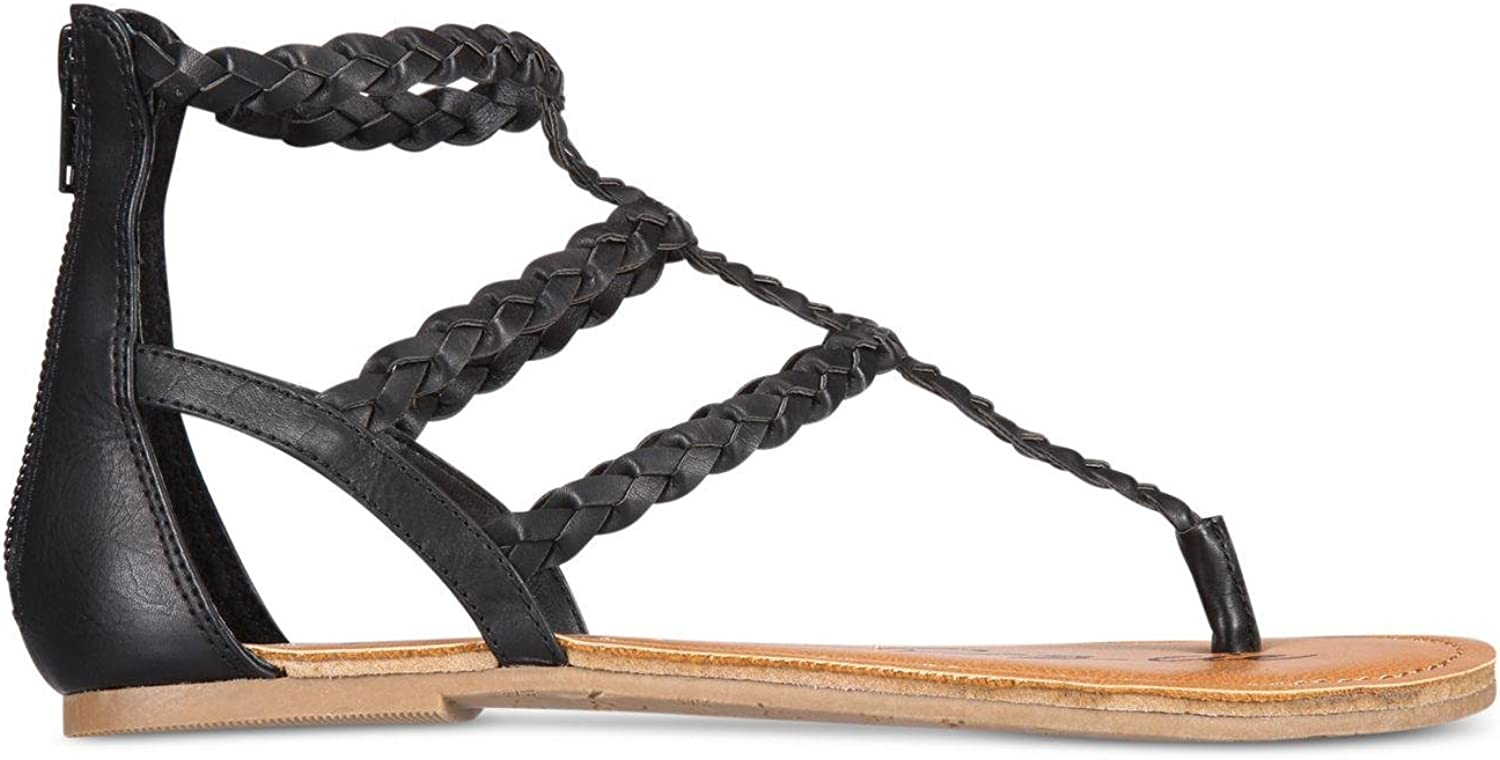 American Rag Womens Madora Open Toe Casual Ankle Strap Sandals, Black, Size 5.5