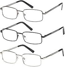 Reading Glasses 3X Stainless Flex 2.00 Readers