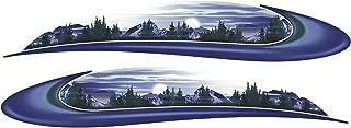 HEARTLAND 2 RV Trailer Camper Mountain Scene Graphics Decals Stripes -726