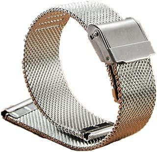 Sangle Bracelet En Acier Remplacement Pliant Argent pour Montre Nouveau 20mm XK