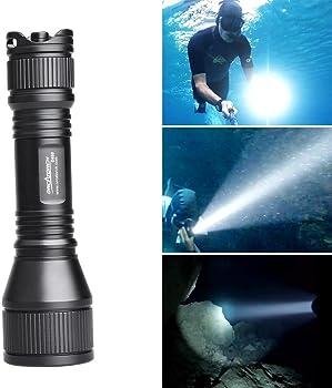 ORCATORCH Upgraded Version 2018 D550 Submarine Flashlight