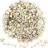 400 Piezas Mini Estrellas de Madera Rodajas Tamaño Mixto Estrella de Madera Adornos Estre...