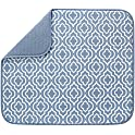 S&T INC. 16 Inch x 18 Inch Reversible Microfiber Dish Drying Mat