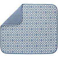 S&T INC. 16 Inch x 18 Inch Reversible Microfiber Dish Drying Mat
