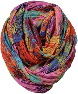 Scarfand's Mixed Color Oil Paint Infinity Versatile Fashion Scarf Head Wrap