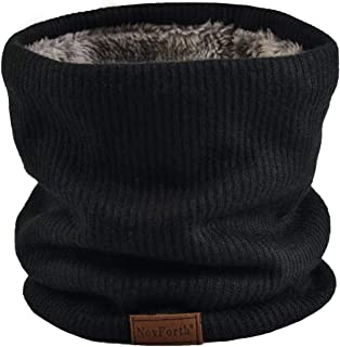 NovForth Winter Neck Warmer Fleece Lined Infinity Scarf Thicken Windproof and Dust Skiing Circle for mens women Double-Lay...