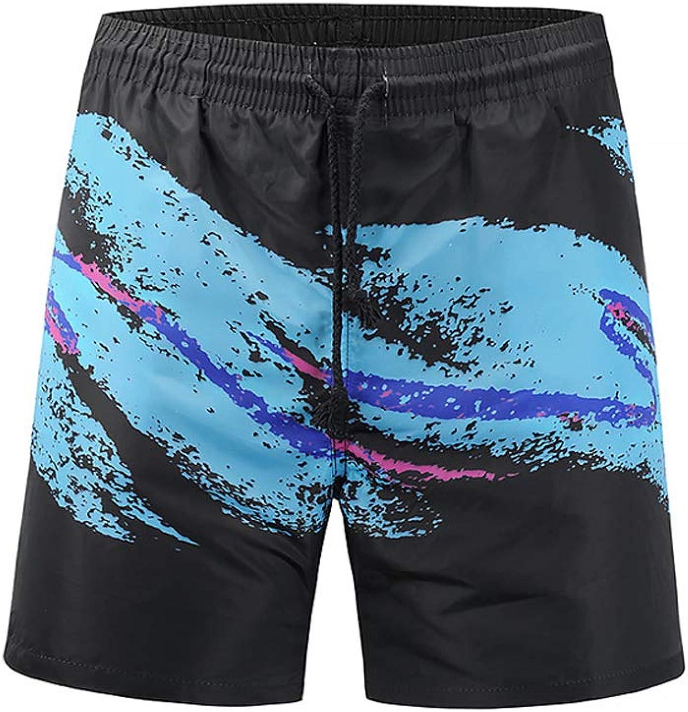 Blau schwarz Personality Doodle Men Es Beach Pants Surf Shorts Surfing Mesh Lining with Pocket Travel Style,Blauandschwarz,XL B07NV5L3FG  Neue Produkte im Jahr 2018