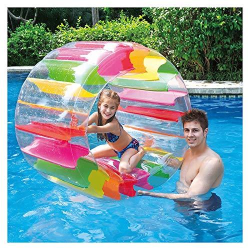 ZLUCKHY Rueda De Agua Inflable Colorida Rueda De Agua Gigante Piscina Flotador De Juguete Diámetro De 63 Cm