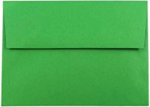 JAM PAPER A7 Colored Invitation Envelopes - 5 1/4 x 7 1/4 - Green Recycled - 50/Pack