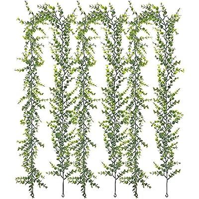 Amazon - 50% Off on 3 Packs Artificial Greenery Garland 18ft Tatol ,Artificial Vines Faux Eucalyptus Garlan