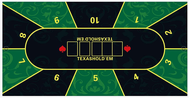 WERTYU mart Poker Table favorite Top Mat Portable P Rubber Non-Slip